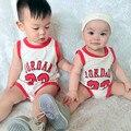 Macacão de bebê Roupas de Bebê Verão Meninos de Manga Curta Roupas de Basquete Roupa Do Bebê Recém-nascido Roupa Bebes Infantil Macacões