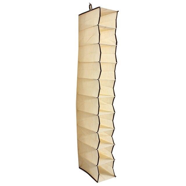 Shoes Garment Organiser Rack Storage Hanging Bag Stand Clothes Holder  Wardrobe Door Behind Household 10 Section