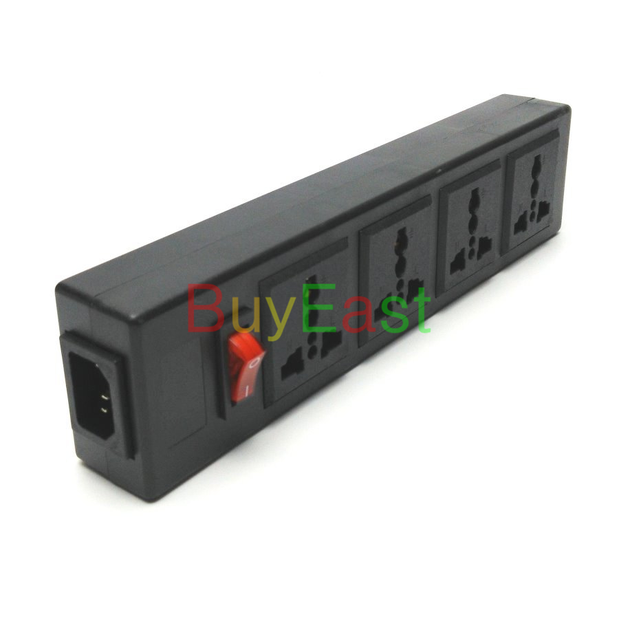 UK Plug 4 Ways Multi Outlet Extension Power Strip Convert World Plug With LED Main Switch AC100~250V Max 13A