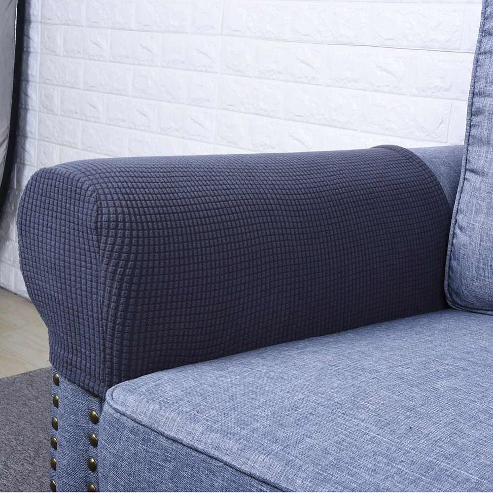 1 Pair Spandex Fabric Removable Arm Stretch Sofa Couch Chair Protector Anti Slip Recliner Couch Arm Covers