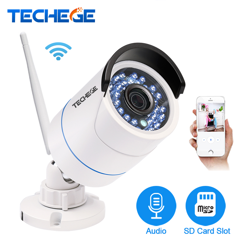 Techege Yoosee IP Camera Wifi 1080P 960P 720P Wireless Wired ONVIF P2P Night Vision Outdoor CCTV Camera SD Card Slot Max 64G marviotek ip camera wifi 960p 720p onvif waterproof wireless wired p2p cctv bullet outdoor camera with audio tf card slot