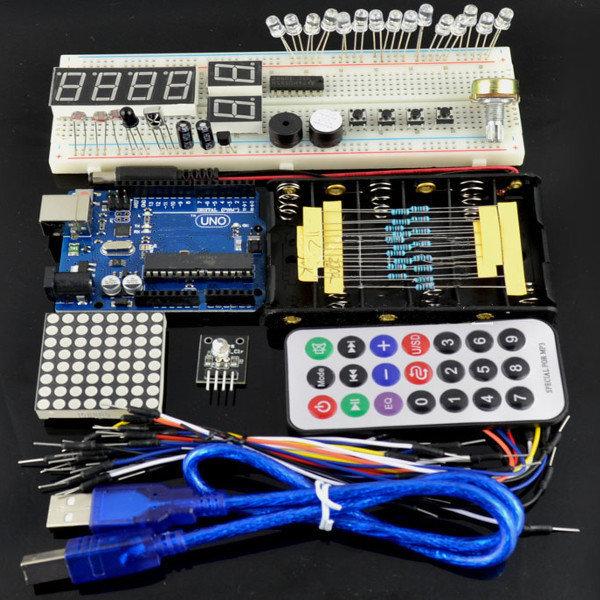Kit básico para Iniciantes Aprendizagem UNO Para Ar-du-ino Básico (caixas, não de plástico)