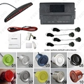 New 4-Sensor Car LED Display Parking Sensor Reverse Backup Radar Aid System 10-Color #FD-2653