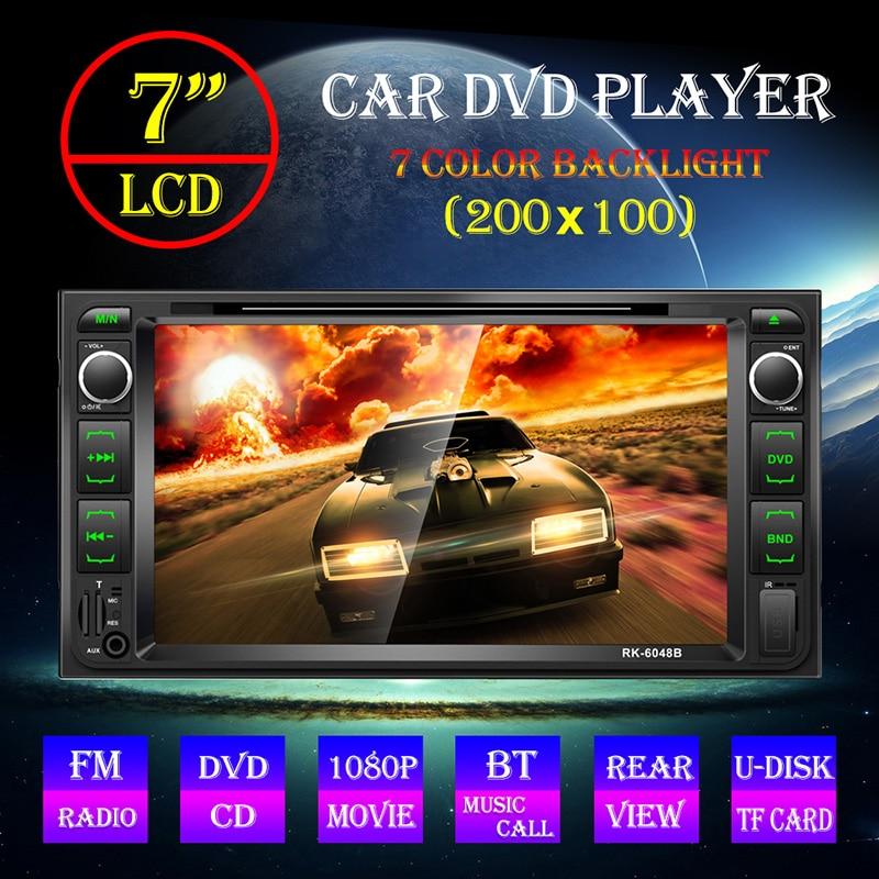 6.95 ''lecteur Cd autoradio Bluetooth Usb/Sd/Fm Aux Audio stéréo prend en charge la caméra de recul/Dvd/Vcd/Mp4/Tv Tuner pour voitures Toyota