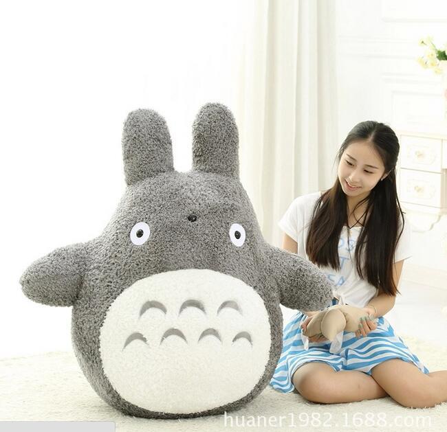 80 CM dessin animé mon voisin Totoro jouets en peluche pour les enfants célèbrent les cadeaux d'anniversaire
