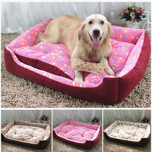 Six Size For Option Luxury Sofa Bed House Large Dog Bed Kennel Mat Warm Fleece Pet Mat Big Blanket Cushion Cama Perro