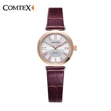 Часы Женщины кварцевые часы COMTEX Бренд Класса Люкс Кристалл часы Повседневная мода Платье Наручные Часы