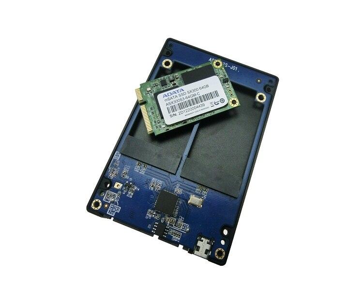 Dual mSATA RAID to 22pin SATA Adapter 2.5 inch SATA 3.0 Enclosure USB3.0 to 2 MSATA SATA 3 RAID 0/1 Free Shipping цена 2017