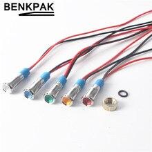 6mm LED gösterge ışığı 3 V 5-6 V 12 V 24 V 220 V sinyal lambası