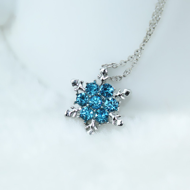 Charm vintage lady blue crystal snowflake zircon flower silver charm vintage lady blue crystal snowflake zircon flower silver necklaces pendants jewelry for women free aloadofball Gallery