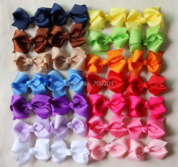 """Top Selling 3 """"Bows Ribbon Bows Lint Haarelastiekjes 15 Kleuren allemaal voorraad 100 stks/partij Gratis Verzending"""