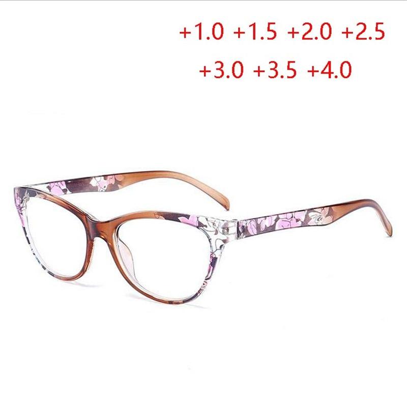 + 1.0 + 1.5 + 2.0 Tot + 4.0 Cat Eye Magnifie Bril Voor Sight Retro Thee/rood/ Blauw Frame Dioptrie Bril Voor Ouderen Lentes De Lectura Aangenaam Voor Het Gehemelte