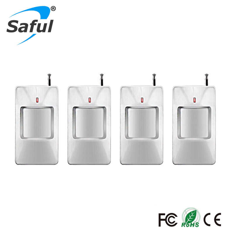 315/433Mhz 4pcs/lot wireless PIR infrared motion detector For Wireless GSM/PSTN Auto Dial Home Security for gsm alarm system цены онлайн