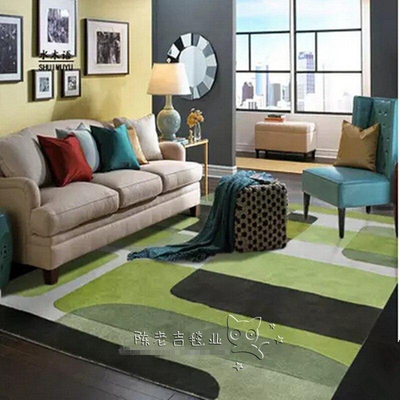 Haute qualité nouvellement arrivé pastorale vert acrylique chambre tapis décoration de la maison, tapis de salon, décoration de mariage