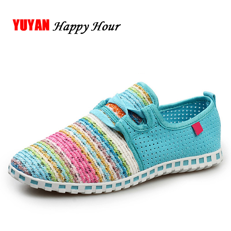 New Spring Summer Shoes Women Sneakers Fashion Mesh Shoes Colorful Breathable Women