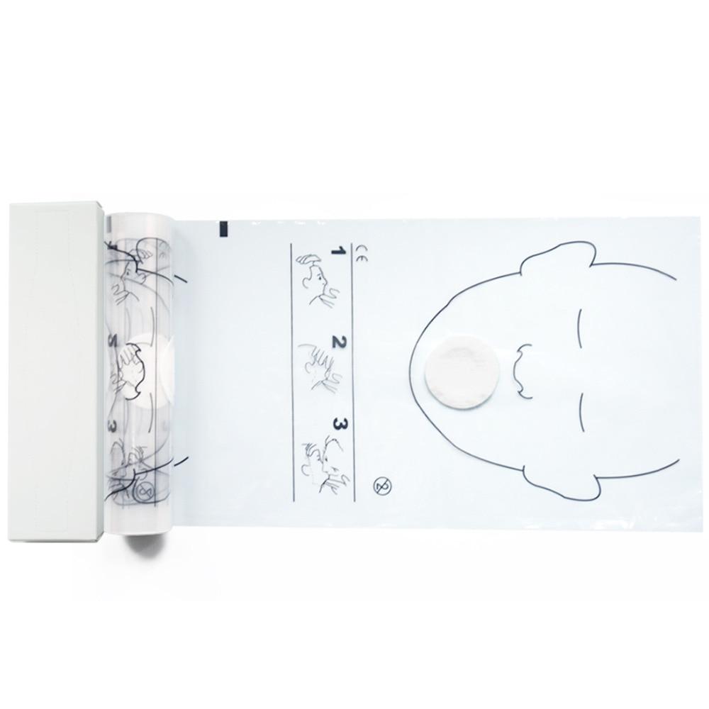 4 Rolls 36 komada / Roll CPR maske za lice Usta do usta spašavanja - Zdravstvena zaštita - Foto 1