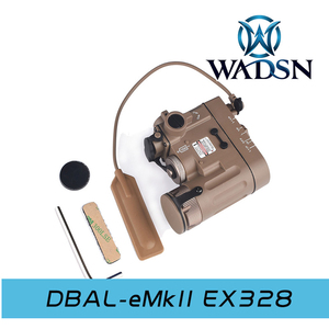 Image 3 - WADSN טקטי אור 14DBAL IR אדום לייזר Airsoft ציד מנורת DBAL EMKII פנס DBAL D2 14DBAL נשק אקדח אור