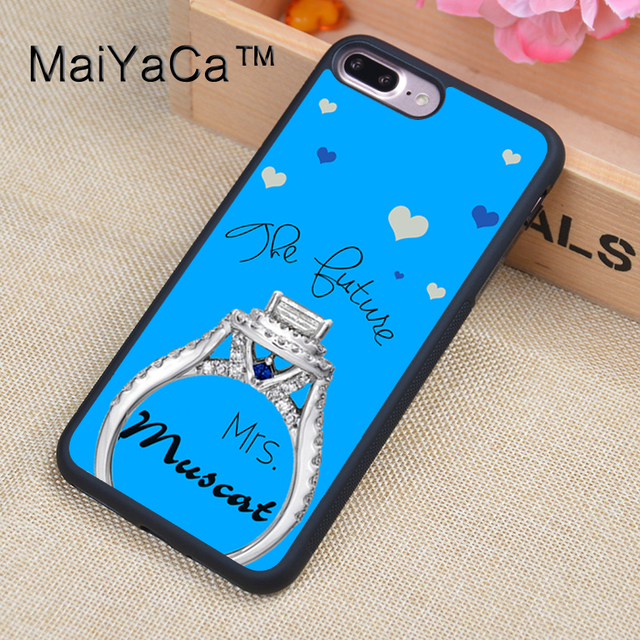 1b66af811f8 MaiYaCa Custom Name Wedding ring Cell Phone Cases For iphone 8 Plus For Apple  iPhone 8Plus TPU Back Cover Cases Coque