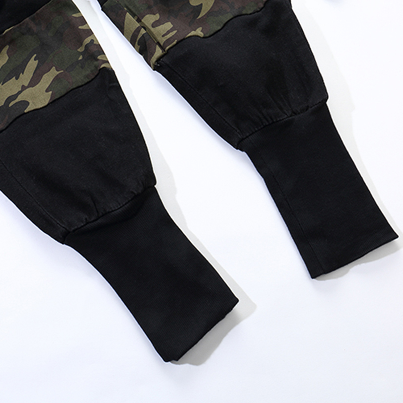 Aelfric Camouflage Spliced Ribbons Track Pants Casual Joggers Baggy Tactical Trousers Harajuku Streetwear Fashion Men Pant Kj101 For Fast Shipping