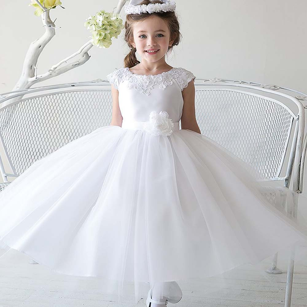 New Tulle Lace Dresses Ball Gown Dress Embroidery Flowers Girl First Communion Dresses for Girls Short Pageant Princess Dresses hot sale custom cheap pageant dress for little girls lace beaded corset glitz tulle flower girl dresses first communion gown