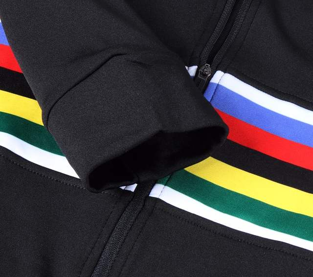 SPEXCEL cool design rainbow Cycling Jersey Winter Long Sleeve Bike Clothes  Thermal Fleece Ropa Ciclismo Bicycle Clothing
