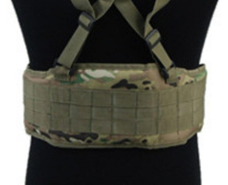 Ceinture de taille rembourrée MOLLE pour hommes, équipement tactique, bretelles de Combat Airsoft réglables, Support de taille pour chasse, ceintures militaires de l'armée, bricolage