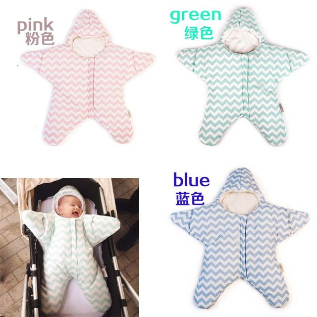 2016 New hot sale Baby sleeping bag Baby sleeping bag Starfish winter newborn Prams bed Swaddle blanket wrap
