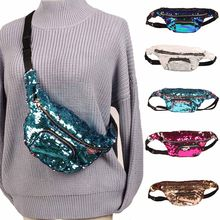New Fashion Women Female Mermaid Sequin Glitter Waist Pack Belt Bum Bag  Pouch Hip Purse Ladies Crossbody Bags Popular FA 1 1c6c125e6fc4