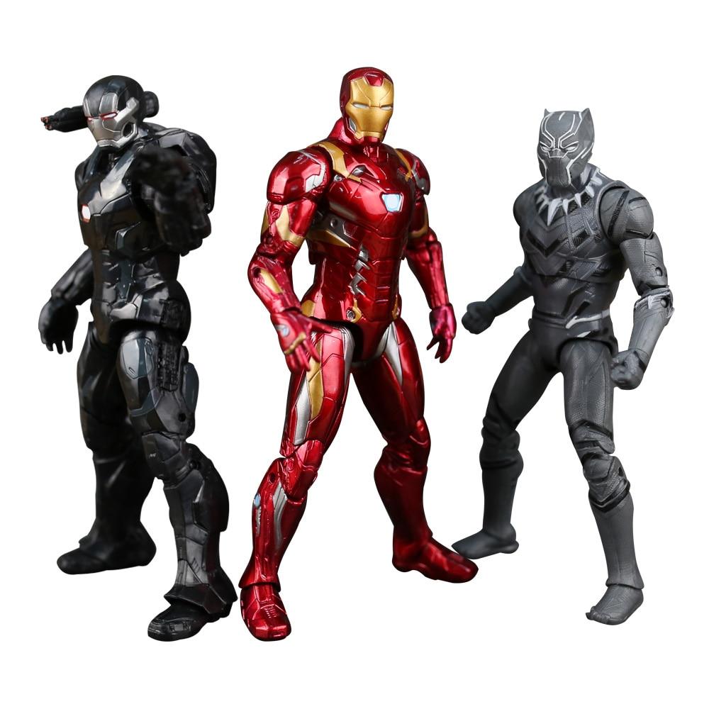 Los Vengadores súper héroe Capitán América civil Clint Iron Man - Figuritas de juguete - foto 6