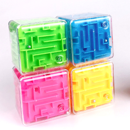 3D Cube Puzzle Maze Toy Hand Game Fun Brain Game Challenge Fidget Toys Balance Educational Toys For Children Montessori Thinking
