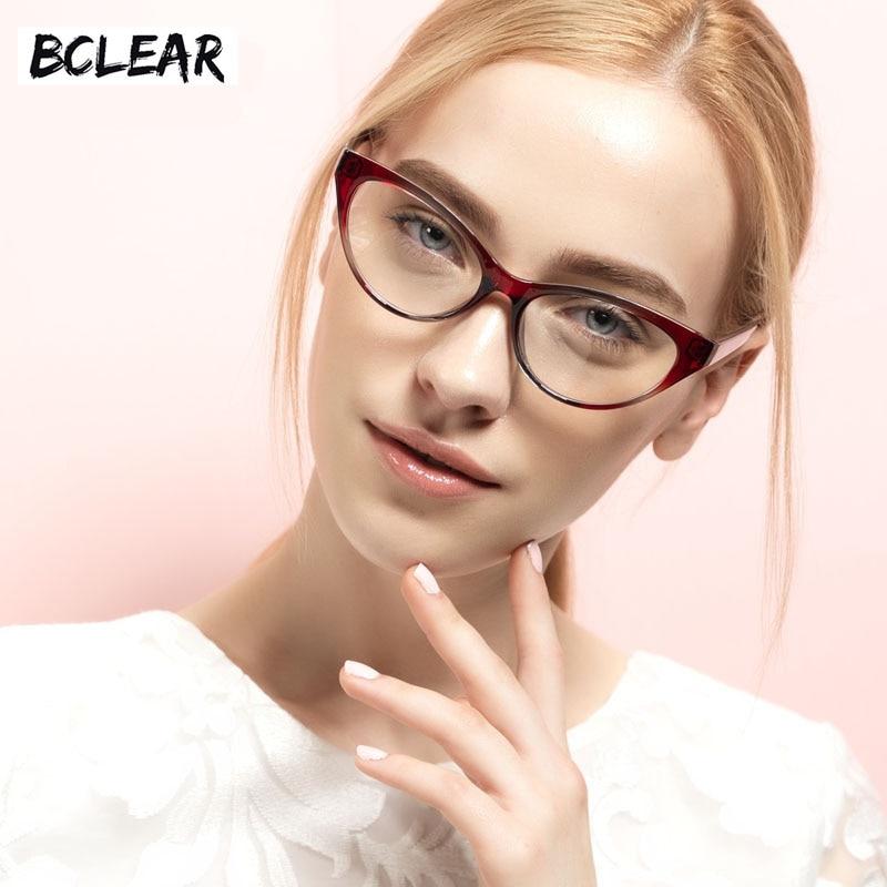 BCLEAR 2018 TR90 Cat Eye Optical Frame Women New Style Fashion Female Beautiful Eyeglasses Frame Popular Lady Spectacle Eyewear