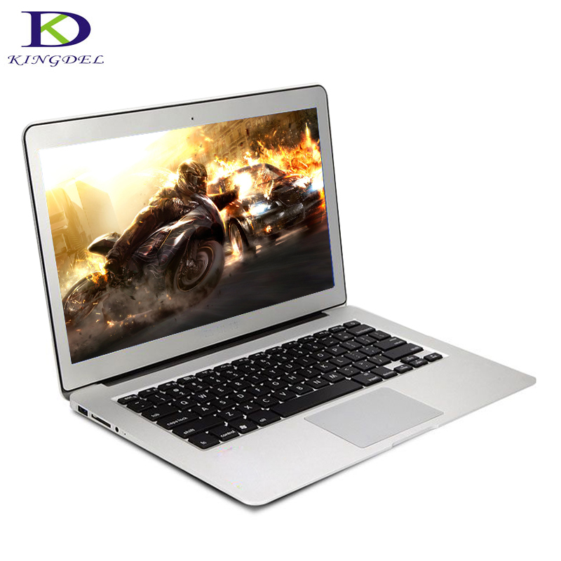 Free Shipping 13.3 Inch Laptop Computer with Backlit Keyboard Bluetooth Wifi  Screen Windows 10 Ultrabook Dual Core i3 5005U