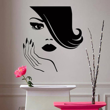YOYOYU Beauty Salon Vinyl Wall Sticker Nails Girl Hair Decal Bedroom Nail Home Decoration Art Poster ZX425