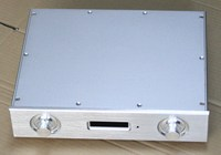 Full Aluminum AK4497 double soft control chassis amplifier Enclosure box