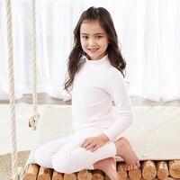 2pc Winter Kids Pajamas Sleepwear Big Boys Girls Pajamas Sets Half High Collar Kids Nightwear Homewear Toddler Clothes Suits