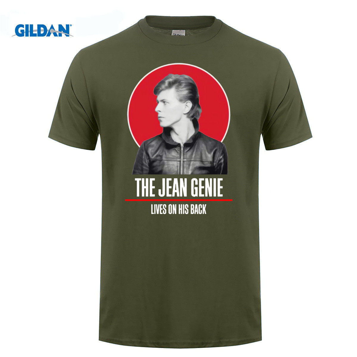 GILDAN 100% cotton O-neck printed T-shirt David Bowie T Shirt The Jean Genie