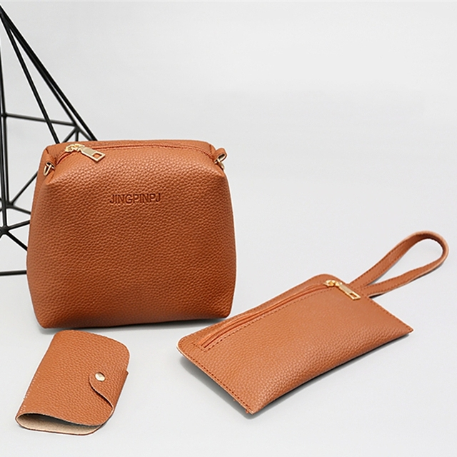 Thinkthendo 4 pçs feminina senhora moda bolsa de ombro tote bolsa mensageiro satchel conjunto 5