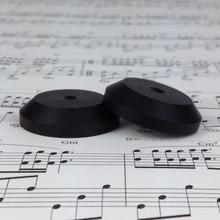 8 TEILE/LOS Ebenholz Holz Lautsprecher Spike Basis Pads CD Verstärker Isolation HIFI Boden Stand Füße 33mm