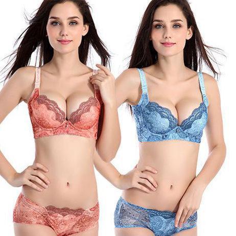 Promotion!2016 women bra set push up sexy bra set women lingerie set embroidery bra and panty set women underwear