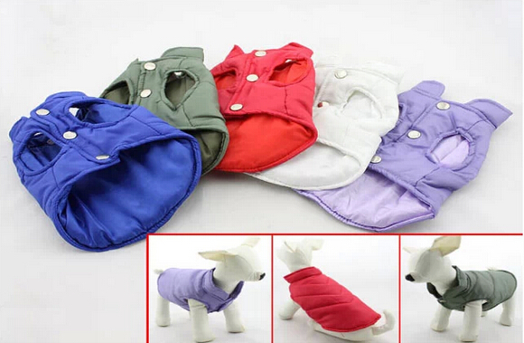 2015 new pet dog cat warm soft jackets doggy fashion autumn winter sweaters puppy coats dogs cats sweaters pets supplies 1pcs
