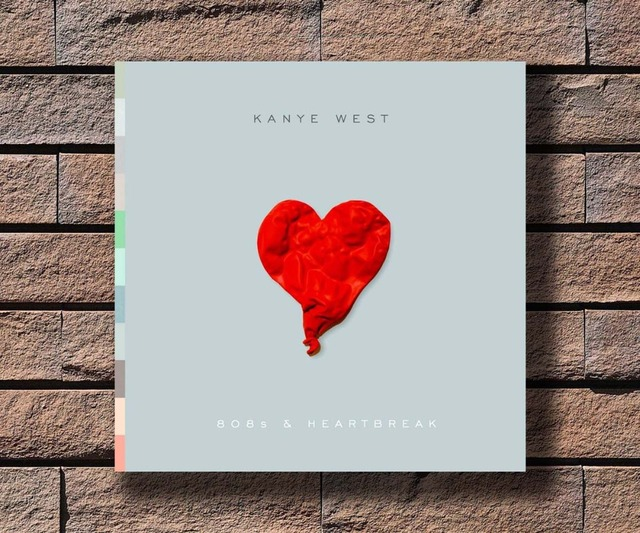 Y380 Kanye West 808s Heartbreak Music Rapper Album Cover Hot Poster Art Canvas Print Decoration 16x16 24x24 27x27inch