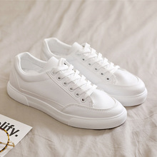 Smile Circle Casual White Sneakers Women Ultra-soft Lace-up Casual Flats Ladies  Platform Shoes Girl цена