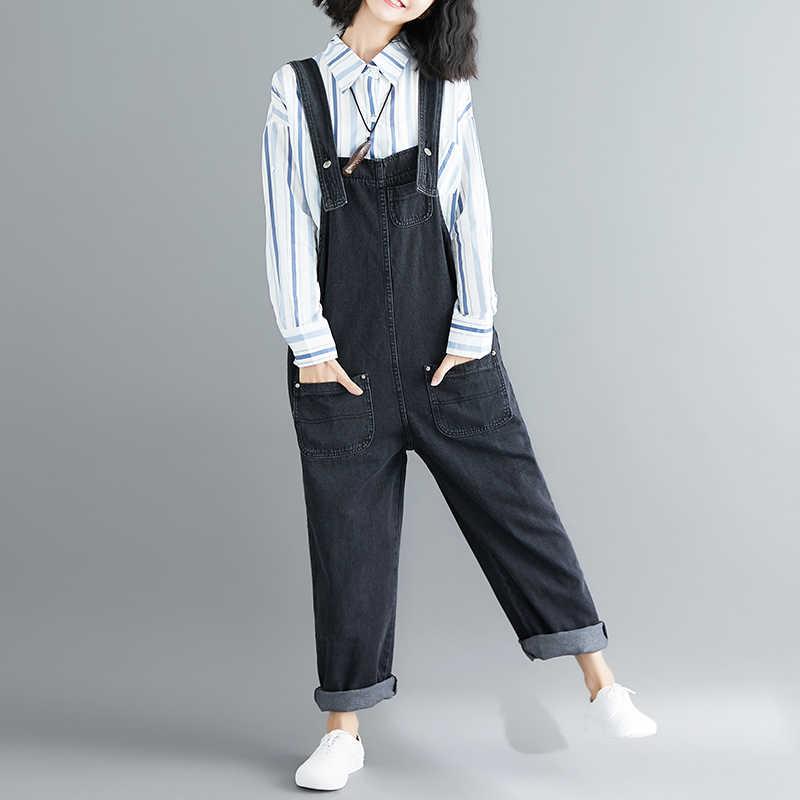 2019 zomer nieuwe vrouwen jumpsuits hele wedstrijd plus size elegante losse wijde pijpen dame denim broek top kwaliteit
