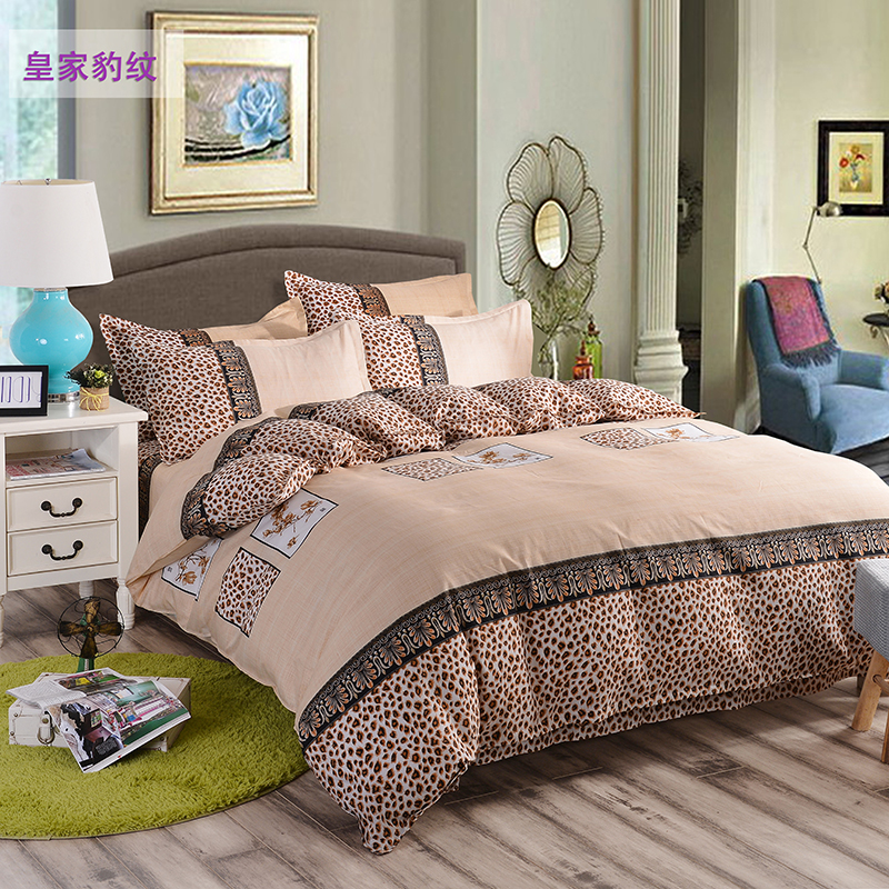 Sale Stripe Bed Linen 4Pcs Bedding Sets Duvet Cover+Bed