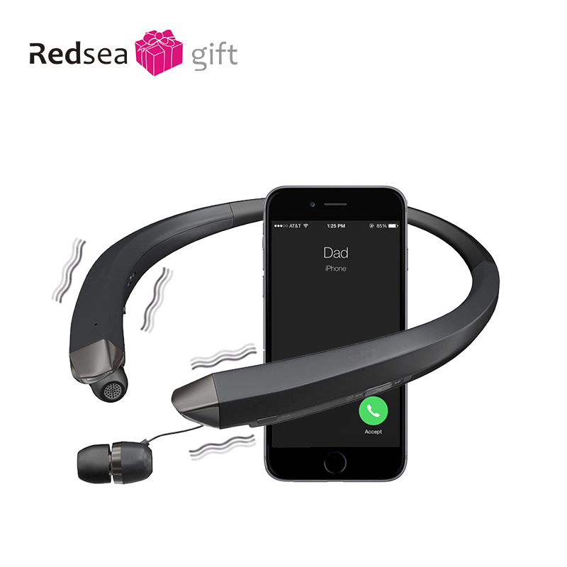 Neck hanging Bluetooth headset наушники wireless sports 블루투스 이어폰 collar Bluetooth anti sweat  earbuds stereo headset with MIC-in Bluetooth Earphones & Headphones from Consumer Electronics