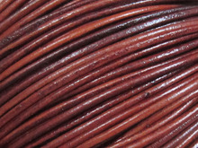 Distressed 2mm Round leather strips 2mm Round leather cord