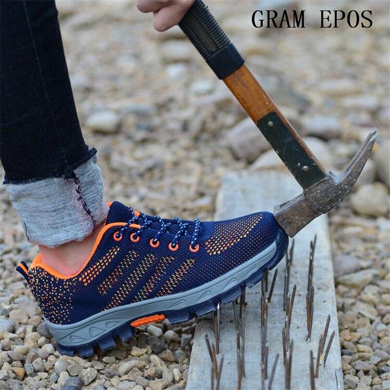 GRAM EPOS Air Mesh Stivali Puntale In Acciaio Scarpe di Sicurezza Lavoro Per Prova di Puntura Anti-Smashing Resistente Traspirante Protettiva Footwea