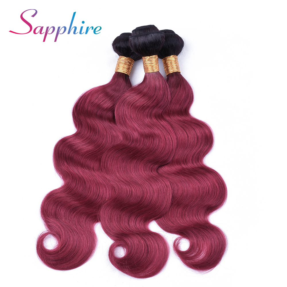 Sapphire Hair 13x4 Ear To Ear Lace Frontal Closure With Bundles Brazilian Body Wave Human Hair Bundles TB/99J Free Part Frontal