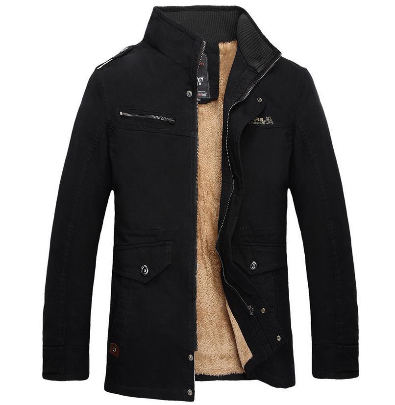 TUOLUNIU Chaude hiver hommes de coton veste épaisse veste chaude Plus de velours casual hommes manteau chaud Pardessus Coupe-Vent