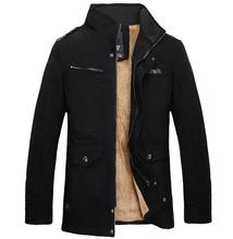 TUOLUNIU Hot winter männer baumwolljacke dicke warme jacke Plus samt casual männer warm mantel Windjacke